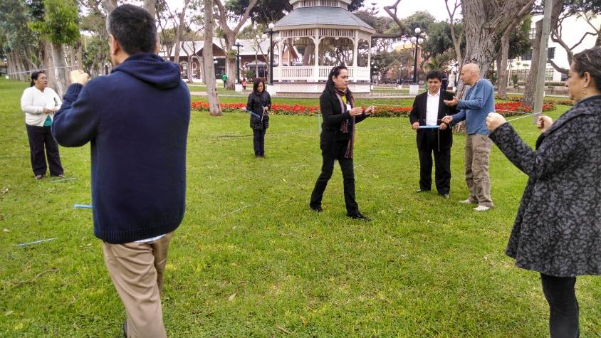 Prácticas en el parque del reducto de Lima