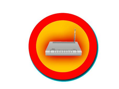señal de peligro router wifi