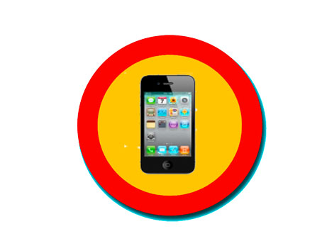 Señal de peligro smartphone
