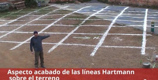 Detalle del acabado de las Líneas hartmann sobre el terreno