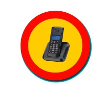 Peligro, Teléfono inalámbrico DECT