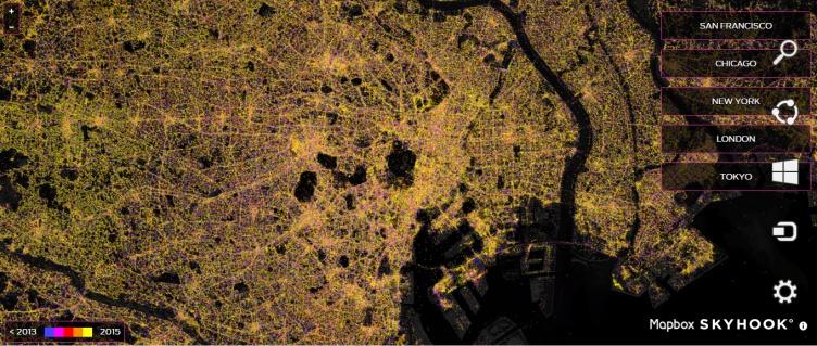 Tokyo y su visión de la gran actividad  de redes inalámbricas,
