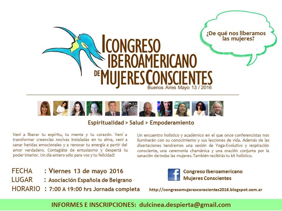 JPG VOLANTE HORIZONTAL I CONGRESO MUJERES CONSCIENTES MAYO 13 BUENOS AIRES 2016 (1)