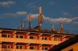 Antenas GSM en las azoteas de las ciudades