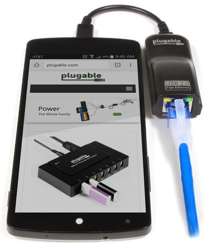 Adaptador de microusb a cable Ethernet para tabletas y móviles