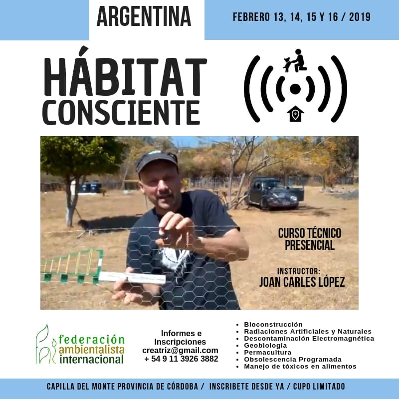 Curso técnico de Joan Carles López en Argentina 2019 por radiaciones.wordpress.com