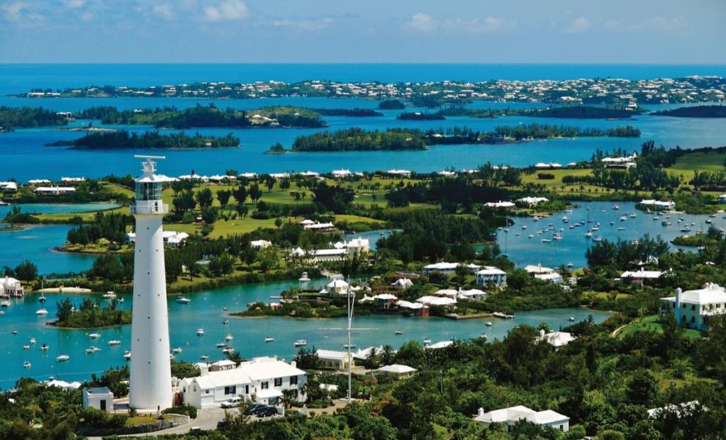 Vista General de una parte de la Isla Bermuda